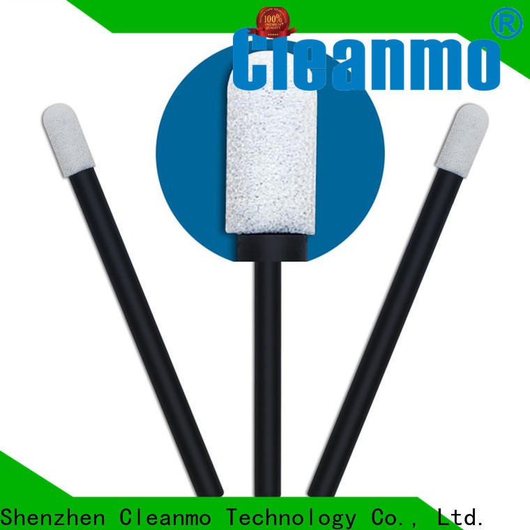 Cleanmo green handle baby cotton ear buds manufacturer for general purpose cleaning