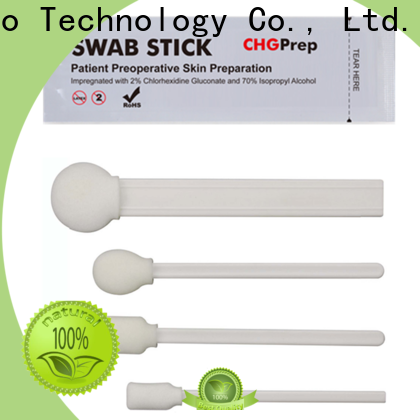 Cleanmo Polypropylene handle with 2% chlorhexidine gluconate surgical swabs factory price for Surgical site cleansing after suturing