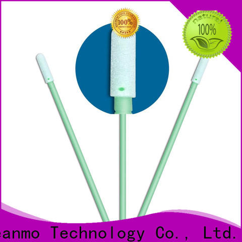 Cleanmo Polyurethane Foam wood stick cotton swabs supplier for general purpose cleaning