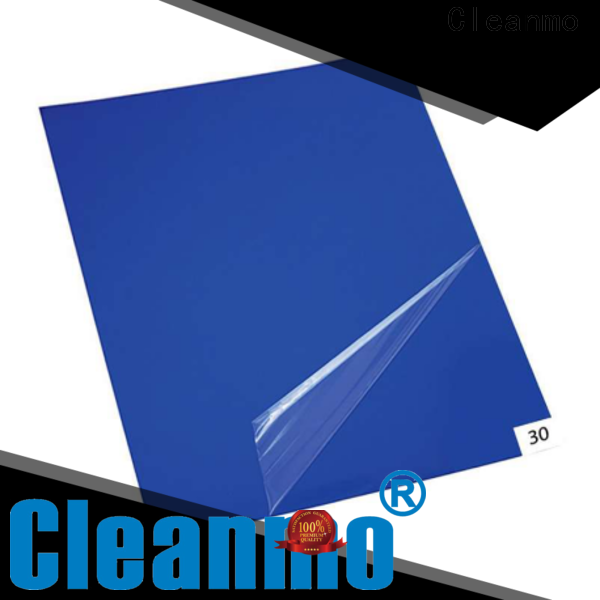 Cleanmo cleanroom tacky mat manufacturer for laboratories