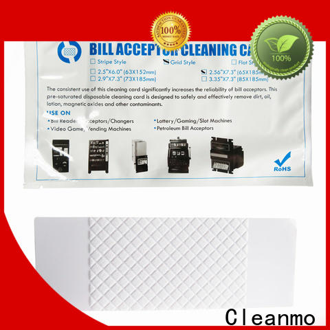 Cleanmo OEM high quality atm cleaning cards wholesale for readers