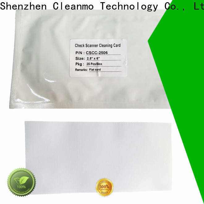Cleanmo check scanner cleaning cards manufacturer for Digital Check TellerScan