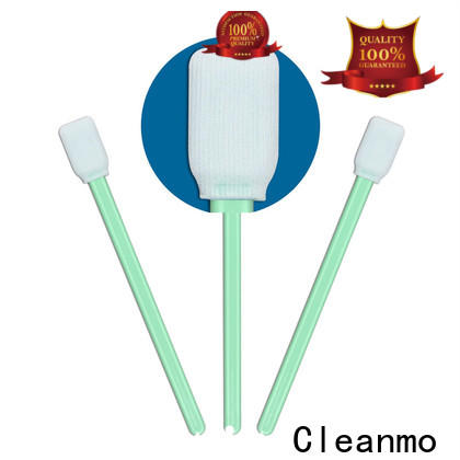 safe material cleanroom swabs foam polypropylene handle supplier for optical sensors