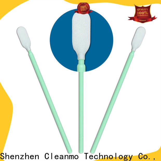 Cleanmo excellent chemical resistance camera sensor cleaning swabs factory price for excess materials cleaning