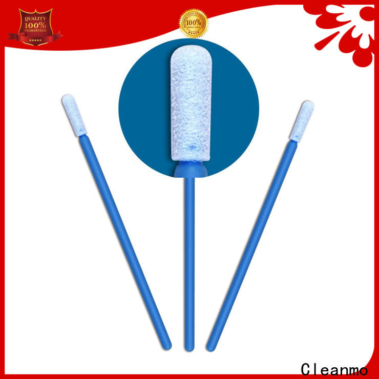 Cleanmo thermal bouded tiny cotton swabs supplier for excess materials cleaning