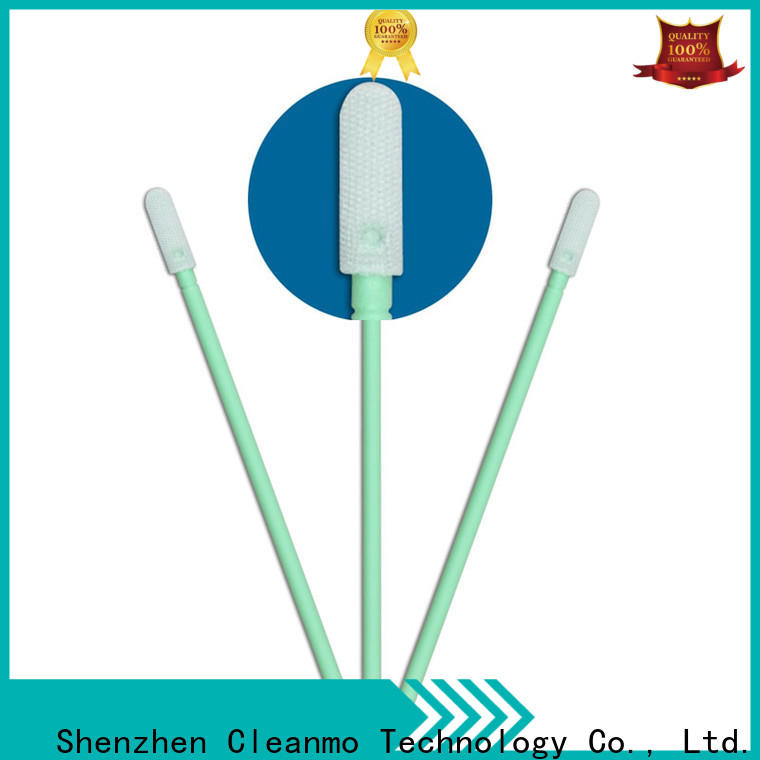 Cleanmo double layers of microfiber fabric cleaning swabs foam supplier for Micro-mechanical cleaning