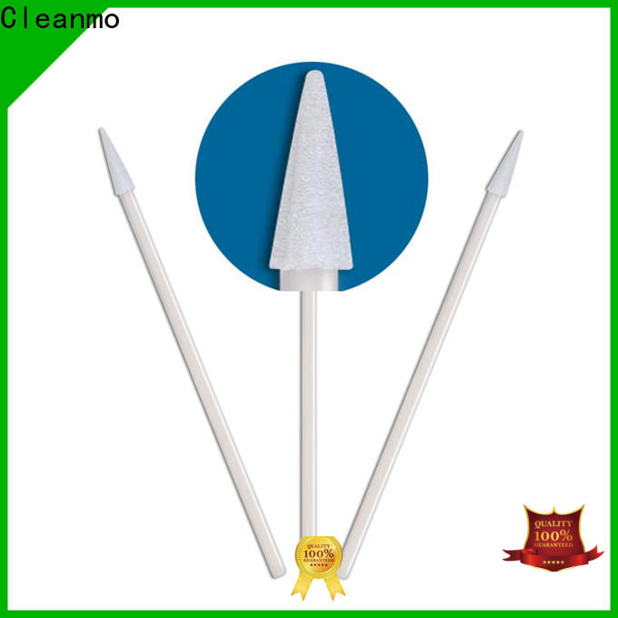 Cleanmo green handle wooden cotton swabs supplier for general purpose cleaning
