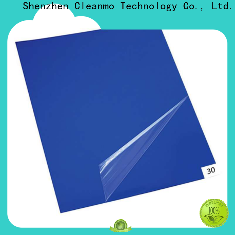 Cleanmo sensitive adhesive cleanroom tacky mat factory direct for gowning rooms