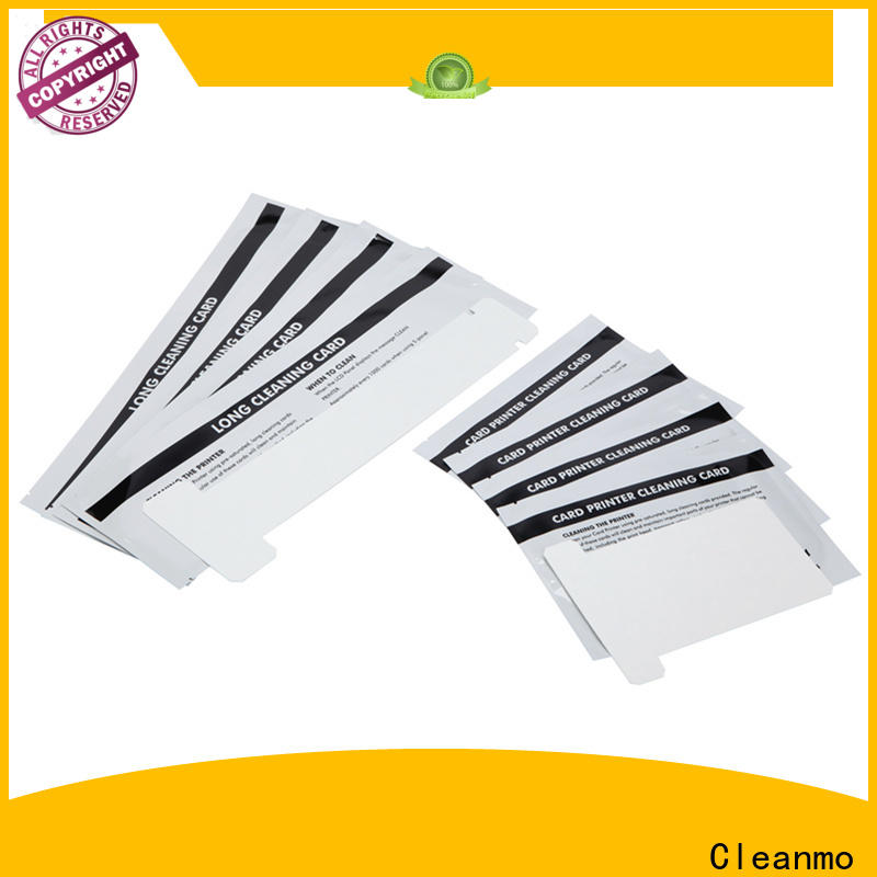 ODM high quality zebra cleaning card Aluminum foil packing supplier for Zebra P120i printer