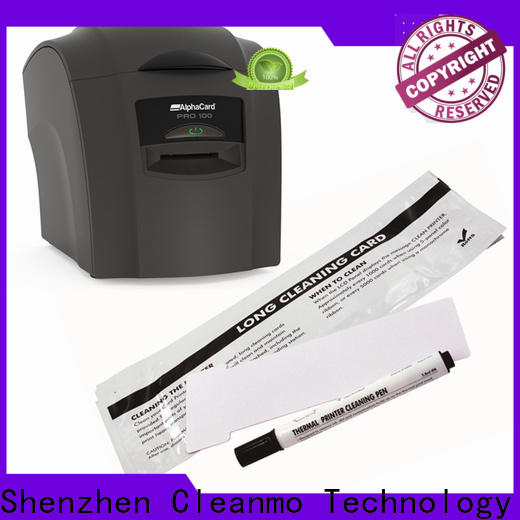Cleanmo Bulk purchase OEM AlphaCard long T Cleaning Cards supplier for AlphaCard PRO 100 Printer