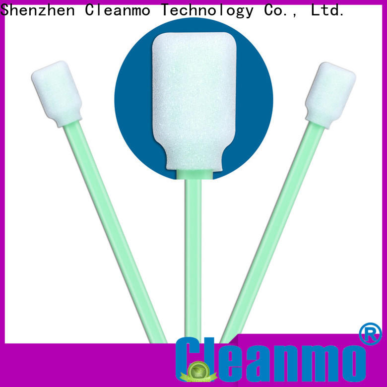 Wholesale high quality cleaning ears with cotton swabs green handle supplier for excess materials cleaning