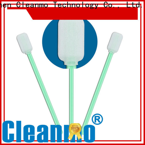 safe material fiber optic swabs flexible paddle supplier for general purpose cleaning