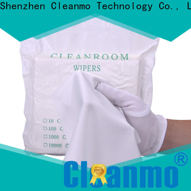 Cleanmo smooth microfiber wipe supplier for chamber cleaning