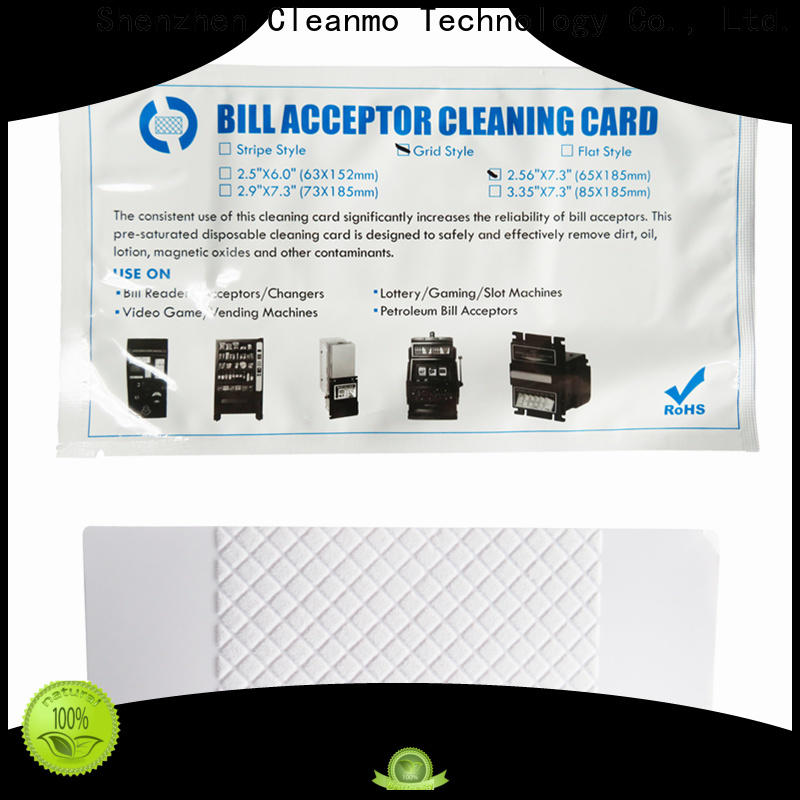 Cleanmo Bulk purchase high quality bill validator cleaning cards manufacturer for video game machines
