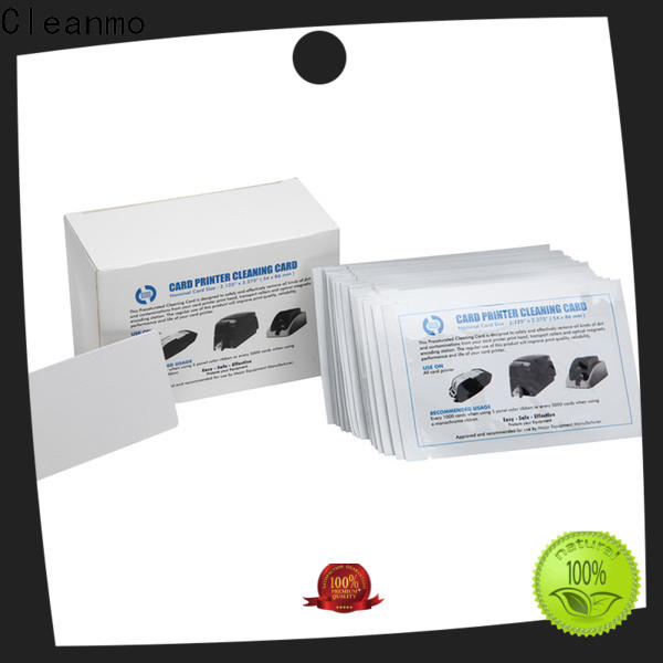 Cleanmo non woven electronic card cleaner supplier for POS Terminal