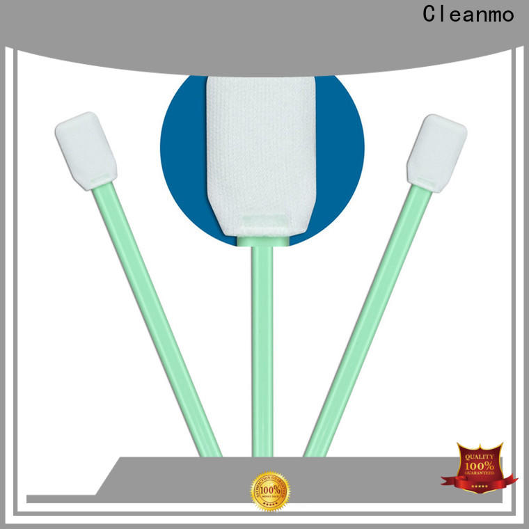 Cleanmo ESD-safe microfiber cleaning swabs manufacturer for excess materials cleaning
