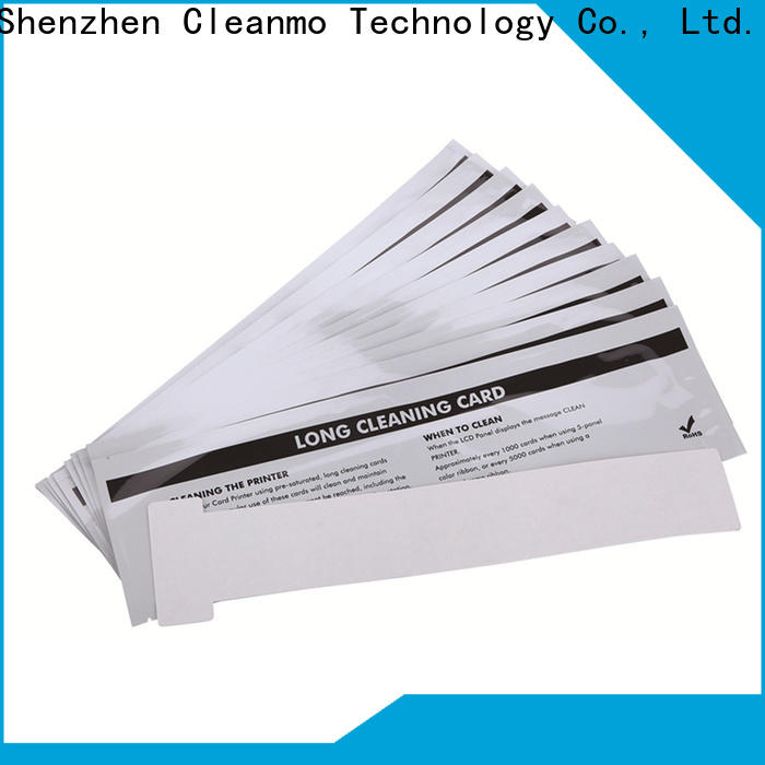 Cleanmo High and LowTack Double Coated Tape clean printer head manufacturer for Evolis printer
