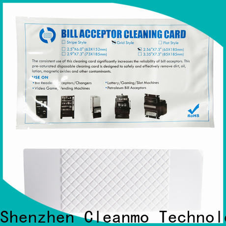 Cleanmo pvc atm cleaning cards wholesale for currency counters