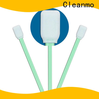 Cleanmo excellent chemical resistance cleanroom swabs foam supplier for optical sensors