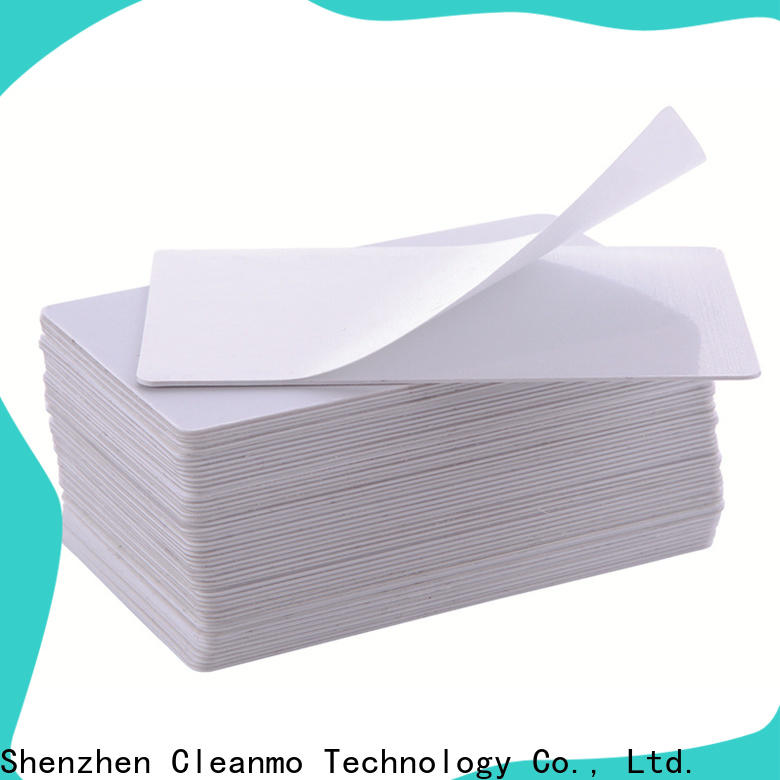 Cleanmo High and LowTack Double Coated Tape laser printer cleaning kit wholesale for Evolis printer