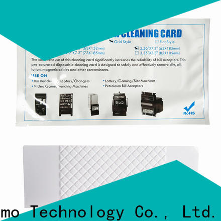 Cleanmo pvc bill acceptor cleaning card factory for dollar bill readers