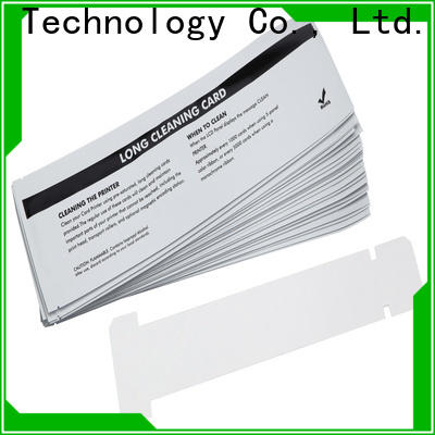 Cleanmo OEM high quality zebra printer cleaning cards supplier for ID card printers