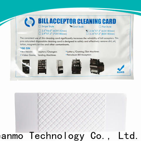 Cleanmo Bulk buy ODM alcohol cleaning cards manufacturer for video game machines