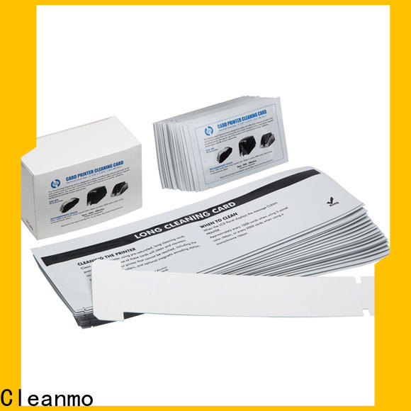 Bulk purchase custom zebra printer cleaning cards pvc factory for Zebra P120i printer